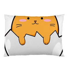 Yellow Cat Egg Pillow Case by Catifornia