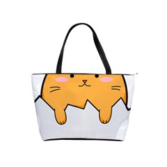 Yellow Cat Egg Shoulder Handbags by Catifornia
