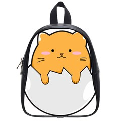 Yellow Cat Egg School Bags (small)  by Catifornia