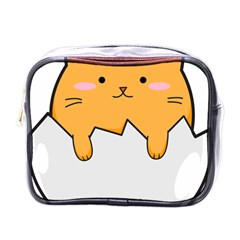 Yellow Cat Egg Mini Toiletries Bags by Catifornia