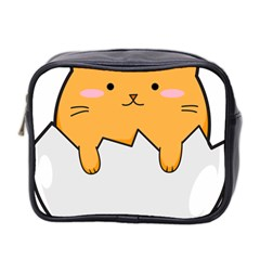 Yellow Cat Egg Mini Toiletries Bag 2 Side by Catifornia