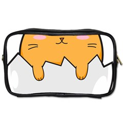 Yellow Cat Egg Toiletries Bags by Catifornia