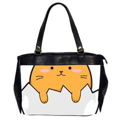 Yellow Cat Egg Office Handbags (2 Sides)  by Catifornia