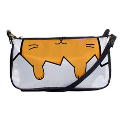 Yellow Cat Egg Shoulder Clutch Bags by Catifornia