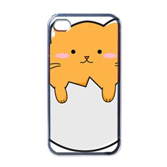 Yellow Cat Egg Apple Iphone 4 Case (black) by Catifornia