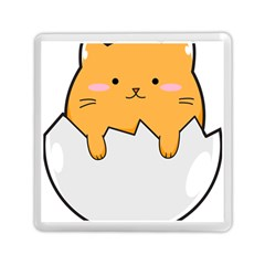 Yellow Cat Egg Memory Card Reader (square)  by Catifornia