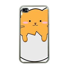 Yellow Cat Egg Apple Iphone 4 Case (clear) by Catifornia