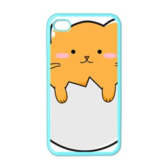 Yellow Cat Egg Apple Iphone 4 Case (color) by Catifornia
