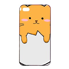 Yellow Cat Egg Apple Iphone 4/4s Seamless Case (black) by Catifornia