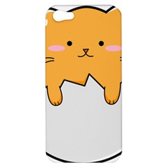 Yellow Cat Egg Apple Iphone 5 Hardshell Case by Catifornia