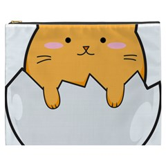 Yellow Cat Egg Cosmetic Bag (xxxl)  by Catifornia