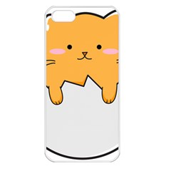 Yellow Cat Egg Apple Iphone 5 Seamless Case (white) by Catifornia