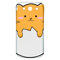 Yellow Cat Egg Samsung Galaxy S3 S Iii Classic Hardshell Back Case by Catifornia