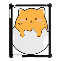 Yellow Cat Egg Apple Ipad 3/4 Case (black) by Catifornia