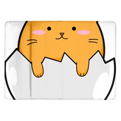 Yellow Cat Egg Samsung Galaxy Tab 10 1  P7500 Flip Case