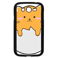 Yellow Cat Egg Samsung Galaxy Grand Duos I9082 Case (black) by Catifornia