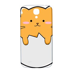 Yellow Cat Egg Samsung Galaxy S4 I9500/i9505  Hardshell Back Case by Catifornia