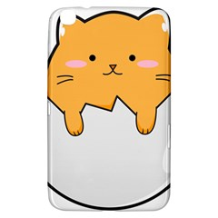 Yellow Cat Egg Samsung Galaxy Tab 3 (8 ) T3100 Hardshell Case  by Catifornia