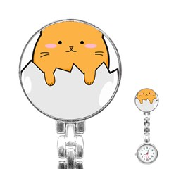 Yellow Cat Egg Stainless Steel Nurses Watch by Catifornia