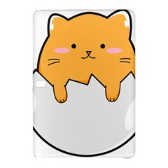 Yellow Cat Egg Samsung Galaxy Tab Pro 12 2 Hardshell Case by Catifornia