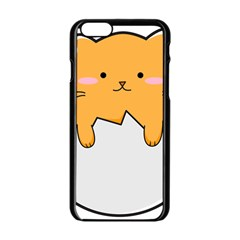 Yellow Cat Egg Apple Iphone 6/6s Black Enamel Case by Catifornia