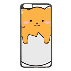 Yellow Cat Egg Apple Iphone 6 Plus/6s Plus Black Enamel Case by Catifornia