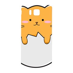 Yellow Cat Egg Samsung Galaxy Alpha Hardshell Back Case by Catifornia