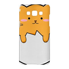 Yellow Cat Egg Samsung Galaxy A5 Hardshell Case  by Catifornia