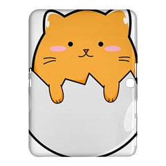 Yellow Cat Egg Samsung Galaxy Tab 4 (10 1 ) Hardshell Case  by Catifornia