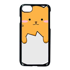 Yellow Cat Egg Apple Iphone 7 Seamless Case (black) by Catifornia
