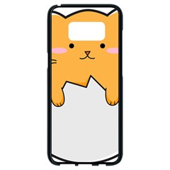 Yellow Cat Egg Samsung Galaxy S8 Black Seamless Case by Catifornia