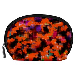 Orange Texture                  Accessory Pouch by LalyLauraFLM