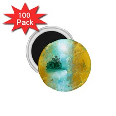 Turquoise River 1 75  Magnets (100 Pack)  by digitaldivadesigns