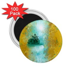 Turquoise River 2 25  Magnets (100 Pack)  by digitaldivadesigns