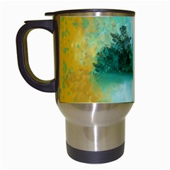 Turquoise River Travel Mugs (white) by digitaldivadesigns