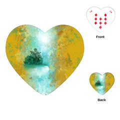 Turquoise River Playing Cards (heart)