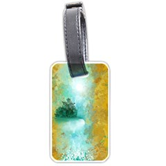 Turquoise River Luggage Tags (one Side)  by digitaldivadesigns