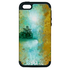 Turquoise River Apple Iphone 5 Hardshell Case (pc+silicone) by digitaldivadesigns