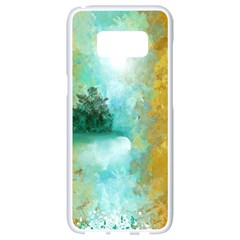 Turquoise River Samsung Galaxy S8 White Seamless Case