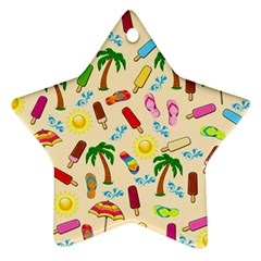 Beach Pattern Star Ornament (two Sides) by Valentinaart