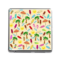 Beach Pattern Memory Card Reader (square)