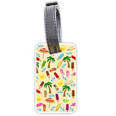 Beach Pattern Luggage Tags (one Side)