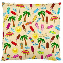 Beach Pattern Large Cushion Case (two Sides) by Valentinaart