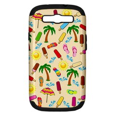Beach Pattern Samsung Galaxy S Iii Hardshell Case (pc+silicone) by Valentinaart