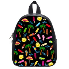 Beach Pattern School Bags (small)  by Valentinaart
