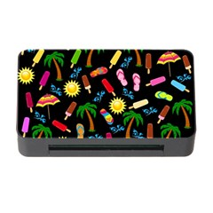 Beach Pattern Memory Card Reader With Cf by Valentinaart
