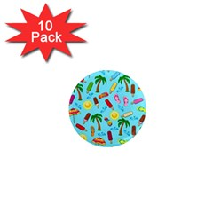 Beach Pattern 1  Mini Magnet (10 Pack)  by Valentinaart