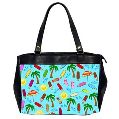 Beach Pattern Office Handbags (2 Sides)  by Valentinaart