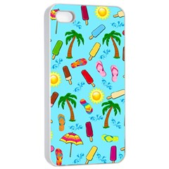 Beach Pattern Apple Iphone 4/4s Seamless Case (white)
