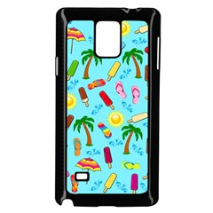 Beach Pattern Samsung Galaxy Note 4 Case (black) by Valentinaart